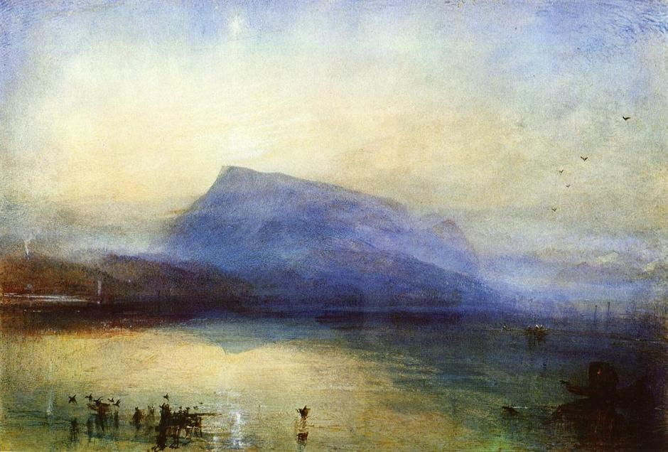 turner the-blue-rigi-lake-of-lucerne-sunrise
