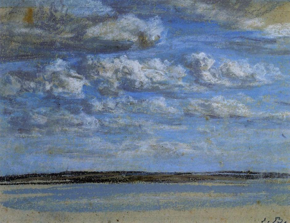 White Clouds, Blue Sky - Eugene Boudin