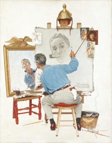 Norman Rockwell, Triple Self-Portrait, 1960