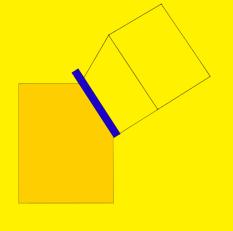 giallo linea blu acrilico su tav 2003